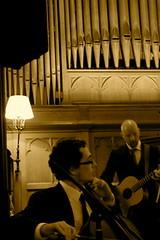 Musicians (minus Cecily, my bad!) (staceyschoi) Tags: wedding musicians scotland guitar may calvin rob organ cello 2009 eilidhs