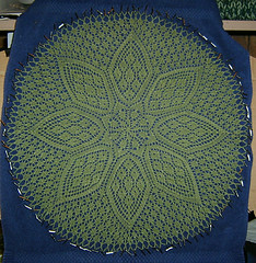 Little Petals Doily - blocking