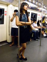 On the Subway (GB-in-TH) Tags: woman train subway thailand asia bangkok candid interior th bmta interiorsubway
