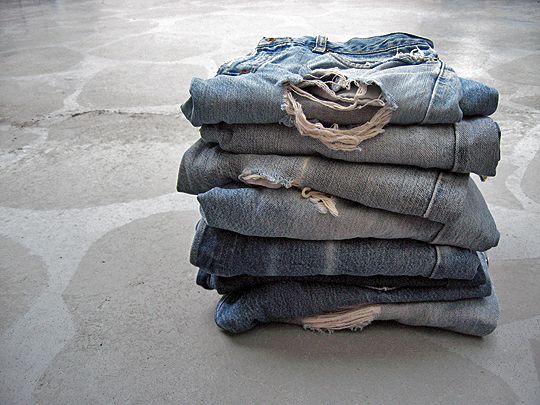 Stack of vintage Levi's Jeans  {sharp}