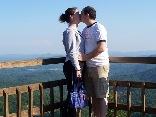 Smoochin' in the mountains