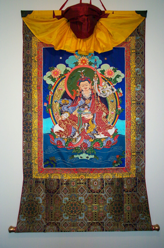 Guru Rinpoche, silk thangka mounted in soft brocade, br ©Leslie Rinchen-Wongmo 1999