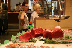 Those tuna are huge! (Eva Rees) Tags: barcelona city trip travel urban españa food walking us catalina spain europe market sightseeing culture delicious marketplace local rtw metropolitan stalls cultural sta roundtheworld stacatalina espa espaa foreignfoods