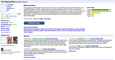 Improved Book Overview Page Google Book Search