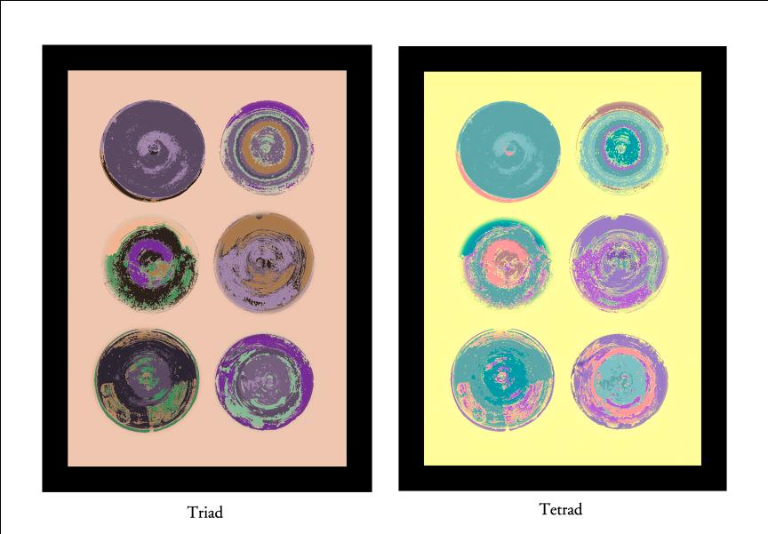 Triad and Tetrad Color Schemes