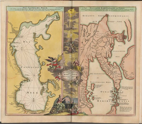 map of the caspium sea by Johann Homann, 1715