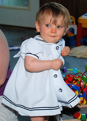 Natalie in her Sailor Dress