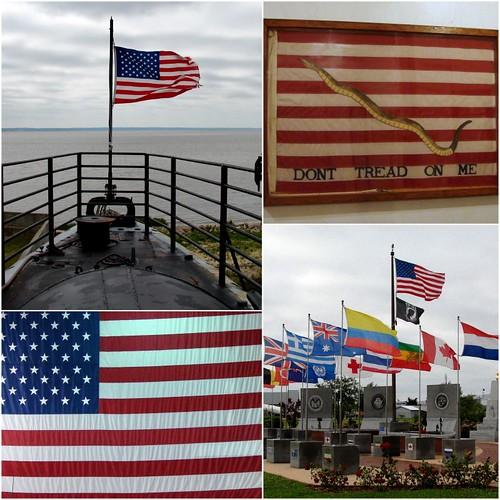 Flags at U.S.S. Alabama Park