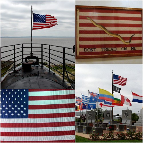 Flags at U.S.S. Alabama Park