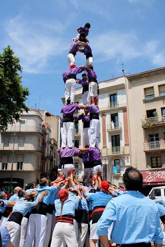 Quatre de set de la Colla castellera de Figueres a la diada de Sant Pere l'any 2009