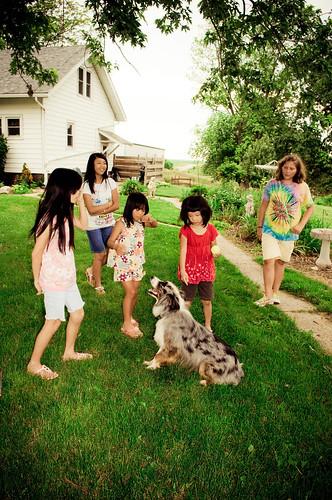 Kids & Dog