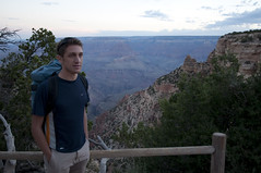 Loren starting to hike down into the canyon (Grand Canyon, Arizona, United States) Photo