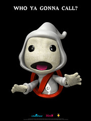 I ain't afraid of no ghosts... (mediamolecule) Tags: poster sony ghostbusters dlc mediamolecule littlebigplanet sackboy