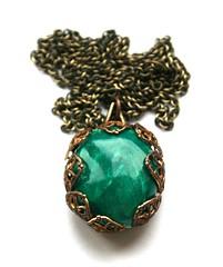 Green stone imitation