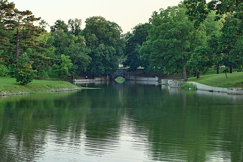 Horseshoe Lake, Carondelet Park, in Saint Louis, Missouri, USA