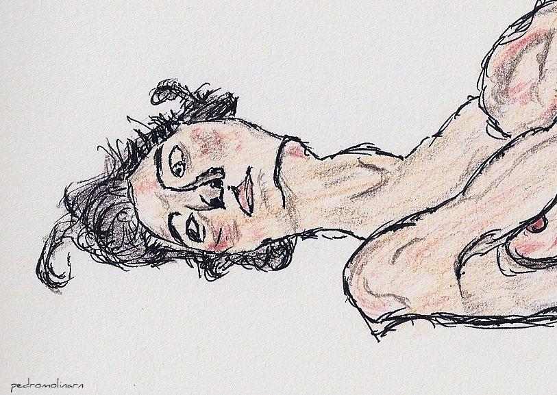 Detalle de Desnudo femenino yacente