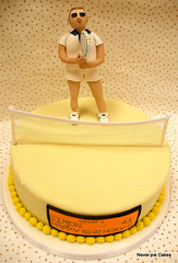Tennis Cake (neviepiecakes) Tags: lemon tennis figure tennisplayer fondant