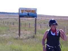 Leaving Wyoming 104 degrees!