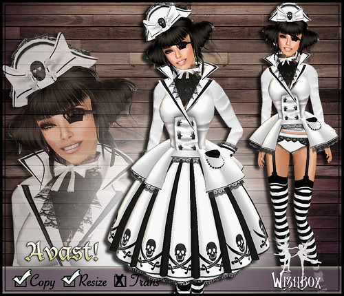 Avast! Pirate Lolita (white)