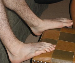 Long Toes (Tobyotter) Tags: man male guy feet friend toes barefoot barefeet peyton