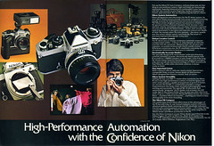 High-Performance Automation with the Confidence of Nikon (1978) (Nesster) Tags: camera vintage magazine nikon ad advertisement advert 1978 fe