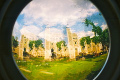Tower of London - Fisheye 2 Triple exposure (25ThC) Tags: city fish london eye tower film 35mm lomo lomography exposure 400 expired triple toweroflondon tripleexposure expiredfilm fujisuperia fujisuperia400 fisheye2 25thc