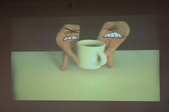 Dan Meth - Tea Battle (Irish Wonderboy) Tags: newyork illustration leeds cartoons nti oldbroadcastinghouse danmeth
