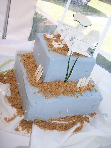 Beach Wedding Cake Oak Island NC Carolina Cakes Confections