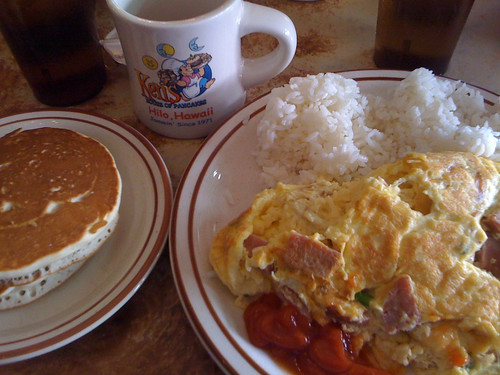 Spam Omelet with rice