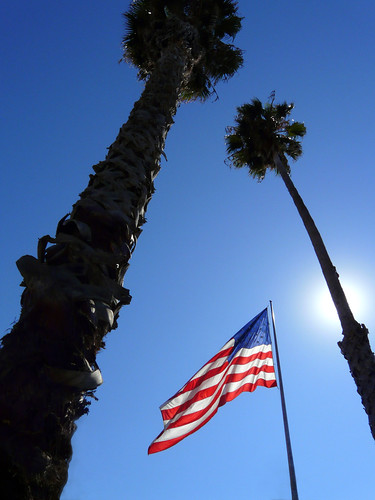 American Flag and Twin Tower       -ing Palms