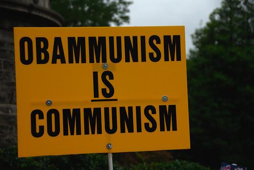 Für die Proteste gegen Obamas Gesundheitsreform ist diese meist Kommunismus und Faschismus in einem.
