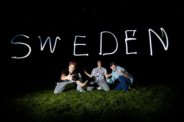 Swedish Light Painting at Night
