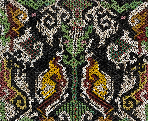 //Bead Panel from a Baby Carrier// (detail). Bahau people. Borneo circa 1900, 36 x 12 cm. From the Teo Family collection, Kuching. Photograph by D Dunlop.