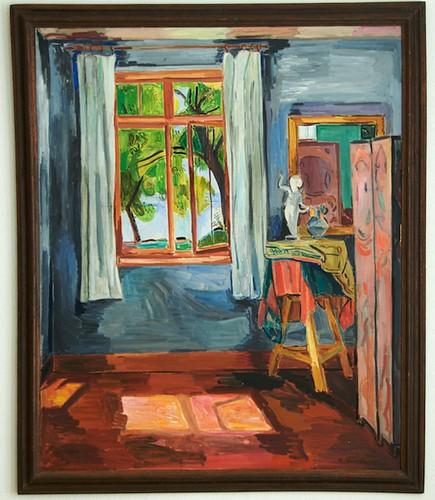 Interieur mit geöffnetem Fenster von Hans Purrmann