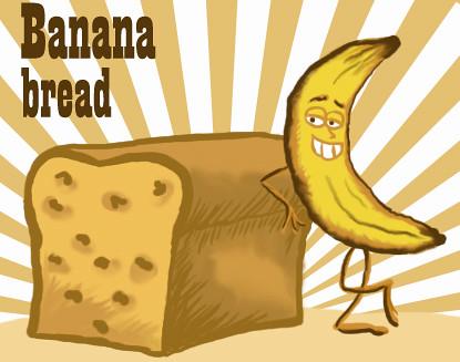 Clip Art Banana Bread And Bananas On Pinterest
