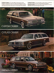 1983 Oldsmobile Wagons (coconv) Tags: auto old classic cars hardtop car truck vintage magazine wagon cards flyer automobile post antique postcard ad woody 98 advertisement vehicles card postcards vehicle trucks firenza 1983 autos collectible custom collectors 88 brochure 83 coupe cruiser automobiles olds oldsmobile wagons cutlass prestige