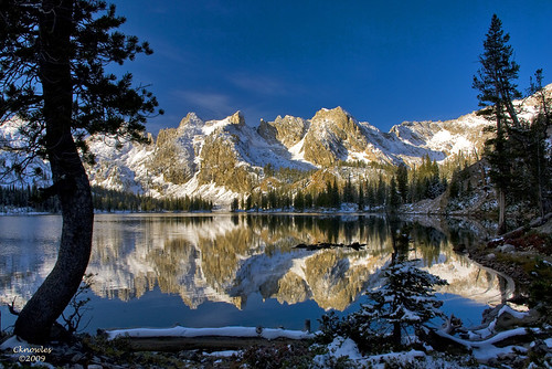 Alice Lake shortly after sunrise Sawtooth National Forest Idaho