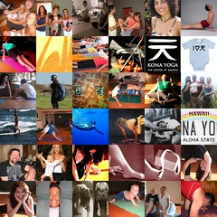 A collage of Kona Yoga shots.