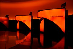 DEEP ORANGE REFLECTIONS (yART photography) Tags: orange reflections lights airport hamburg reflexions sixt rentacar platinumphoto thespiritofmobility canoneosrebelxsi unusualviewsperspectives sigma18200mm3563dcos  yartphotography