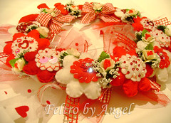 Baby Olivia (Feltro by Angel Original) Tags: flowers flores handmade name artesanato felt wreath guirlanda fabric nome feltro filz feutrine artigianato ghirlanda fieltro artigianale couronnes fattoamano feitoamao pannolenci