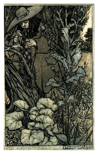018-El caballero y la dama-The Ingoldsby legends 1907-illustrations Rackham Arthur