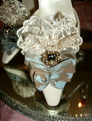 Marie Antoinette shoes (ohairas) Tags: blue vintage french shoes pretty tea lace colonial victorian ivory heels marieantoinette edwardian marieantoinetteshoes
