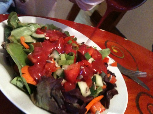 Simple Side Salad with Razzmania Dressing