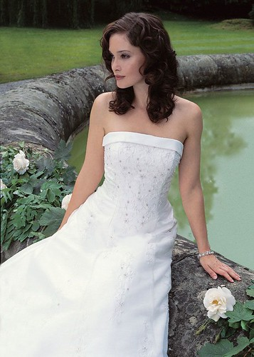 For bridal satin organza gown.