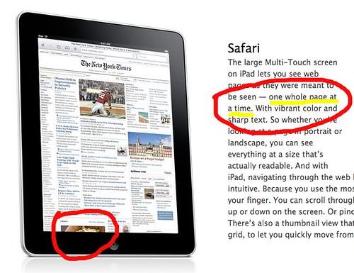 Apple iPad faux pas