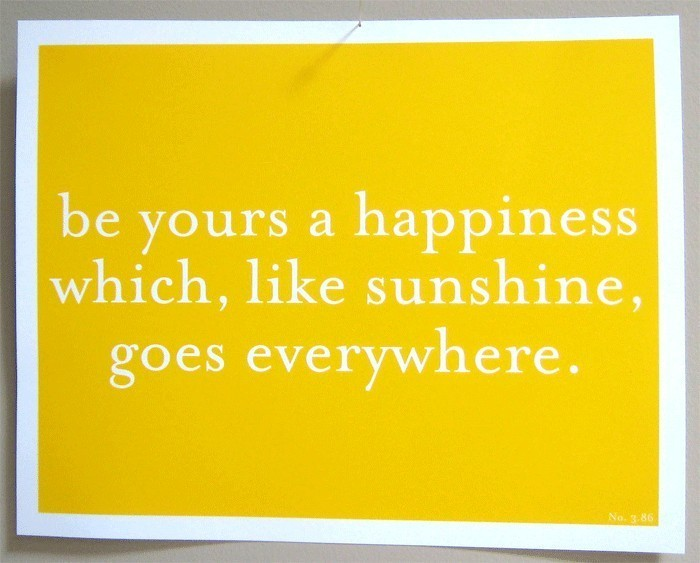 happiness & sunshine