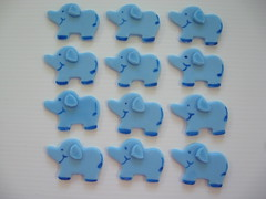 12 blue elephants (Clineff's Confections) Tags: decorations baby cupcake edible toppers babyshower fondant