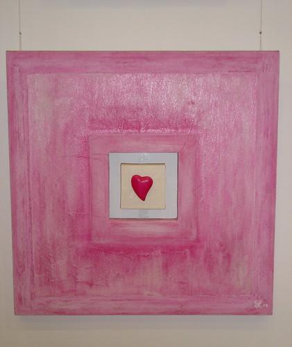 Quadro Coração-rosa by SMAC colours