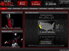 LuckyRed Casino Lobby