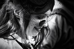 A Lovely Smile (Cornelli2010) Tags: portrait bw white black girl smile face smiling canon silver germany dark deutschland gesicht gothic 85mm wave portrt leipzig dreaming sw masquerade nik frau dreamer schwarz mdchen lcheln maske maskerade 500d wgt weis 2011 wavegotiktreffen trumen schwarzweis grufti trumer efex gruftis